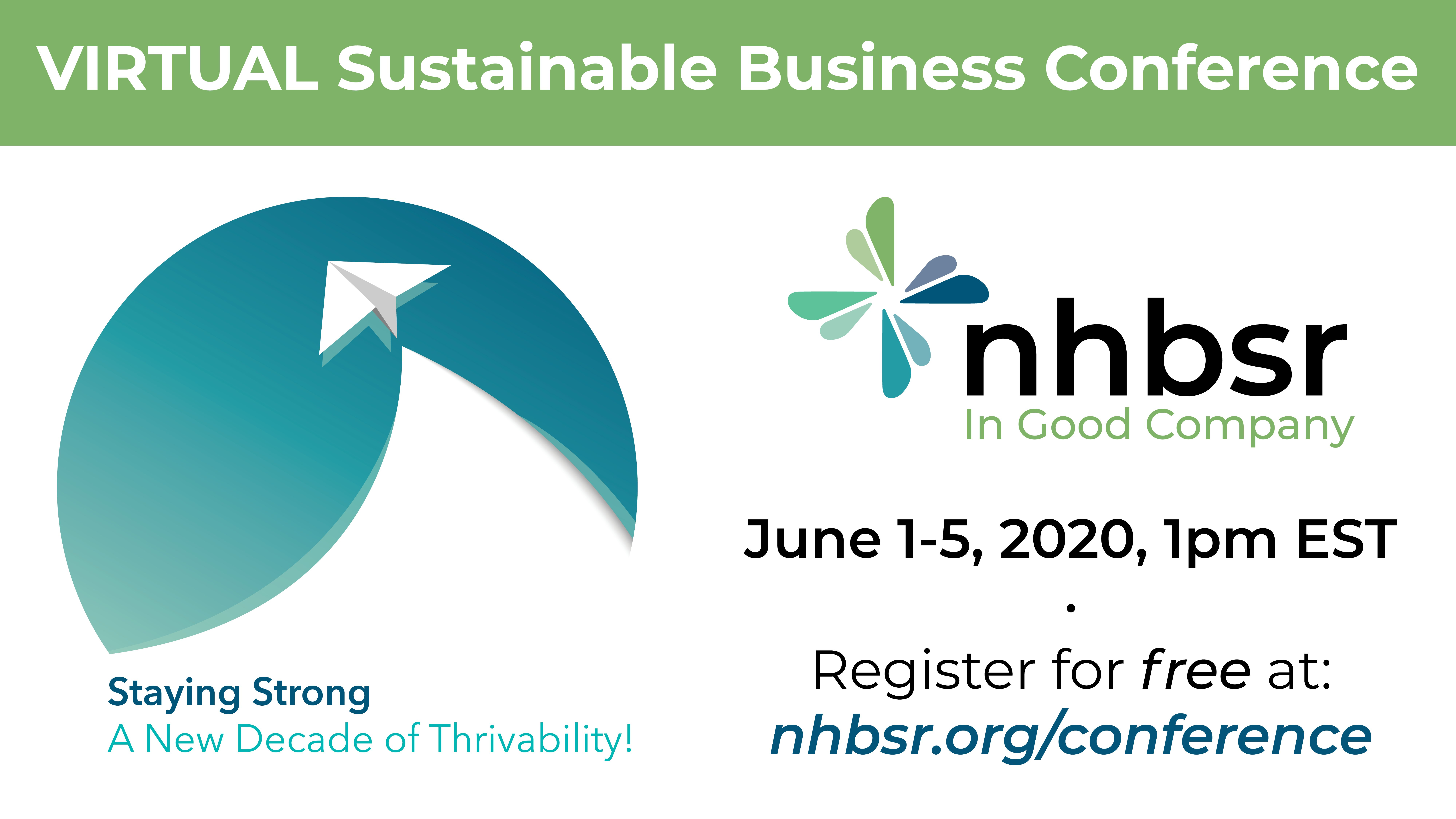 NHBSR Event Banner: Virtual Conference June 1-5 at 1pm EST