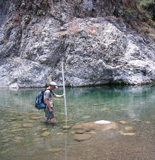 assessing habitat in CA creek environmental consulting services firm